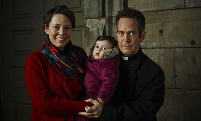 Olivia Colman (left) and Tom Hollander (right) stars of the BBC 2 show Rev
